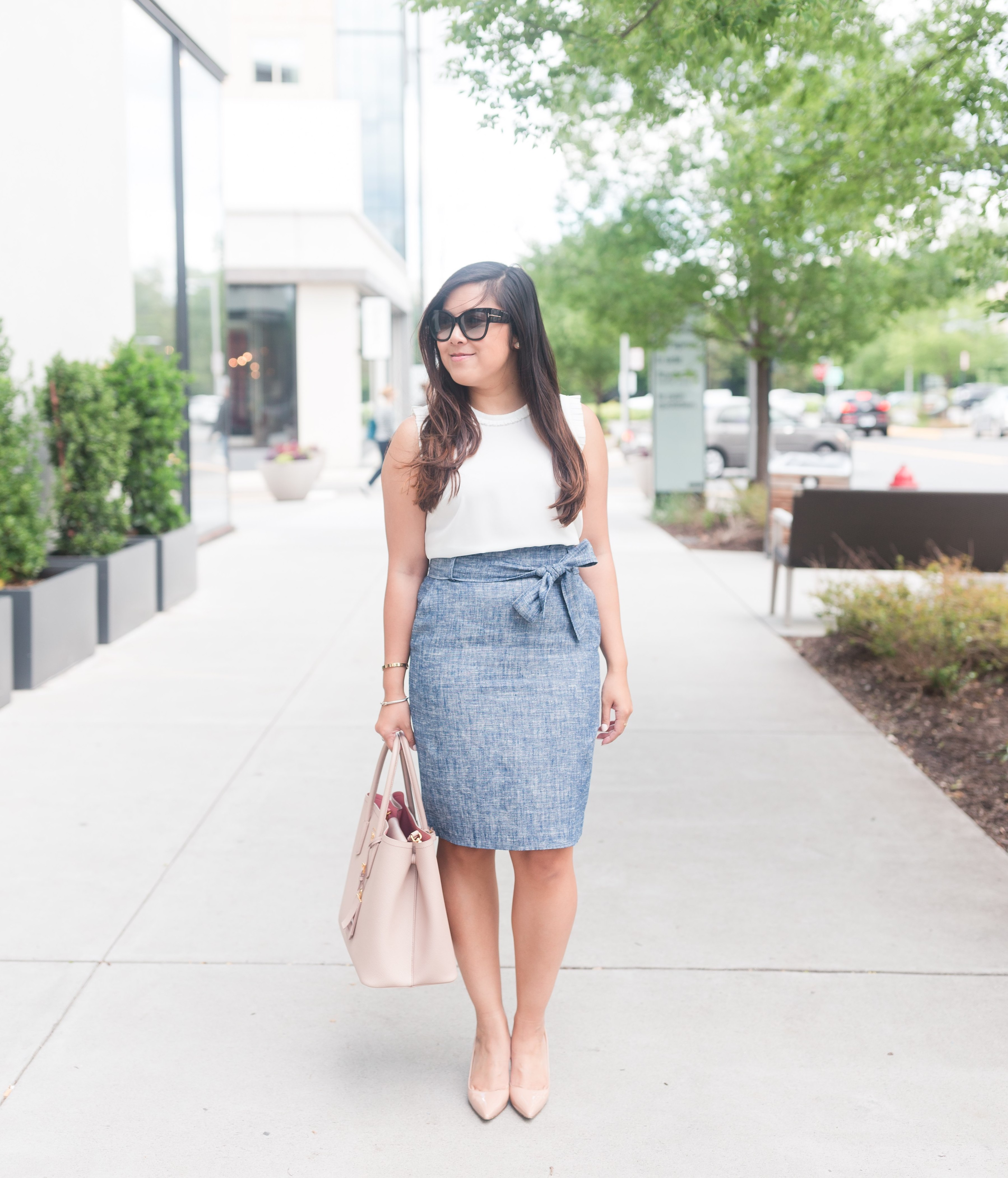 6c318545ce Ann Taylor Paper Bag Skirt - Stylista Esquire